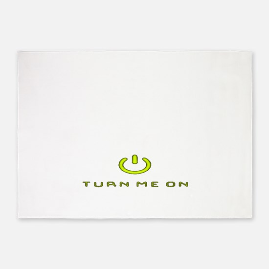 Turn Me On Yellow PNG 5'x7'Area Rug