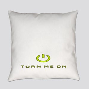 Turn Me On Yellow  Everyday Pillow