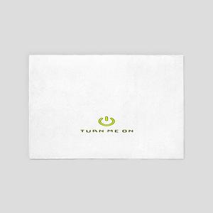 Turn Me On Yellow  4' x 6' Rug