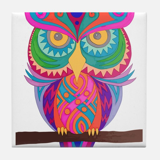 Funny Night owl Tile Coaster