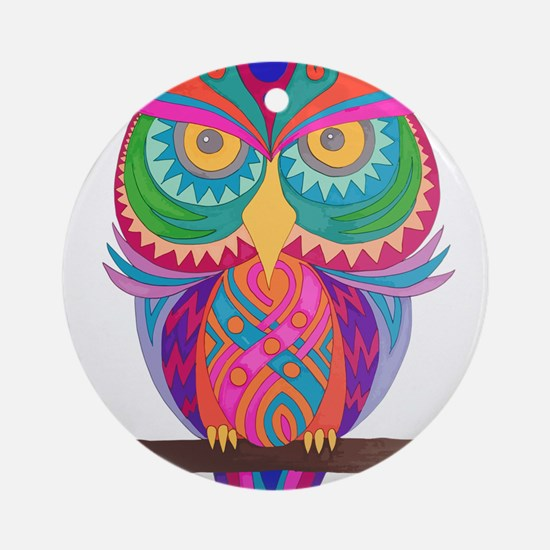 Unique Night owl Round Ornament