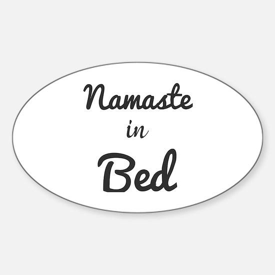 Cute Bed Sticker (Oval)