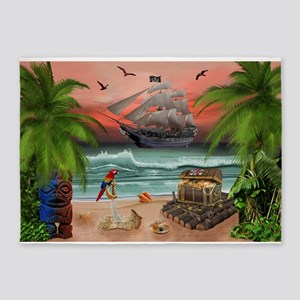 Pirates Treasure Quest 5'x7'Area Rug