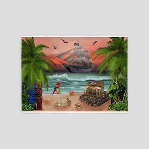 Pirates Treasure Quest 5'x7'Area Rug