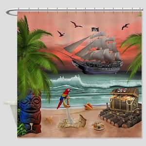 Pirates Treasure Quest Shower Curtain