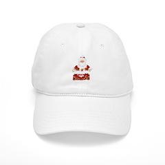 Happy Holidays Santa Baseball Cap