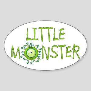 Little Monster Oval Sticker
