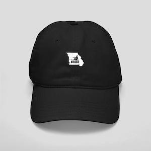 Missouri Gymnastics Mom Shirt Black Cap with Patch