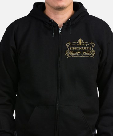 Personalized Home-Brewer Brew Pub Sweatshirt