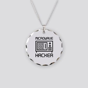 Microwave Hacker Necklace Circle Charm