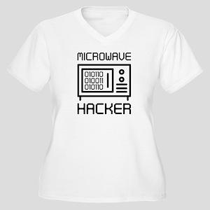 Microwave Hacker Women's Plus Size V-Neck T-Shirt