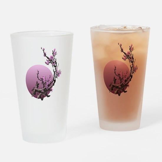 japanese zen cherry blossom sakura Drinking Glass