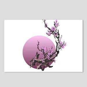 japanese zen cherry bloss Postcards (Package of 8)
