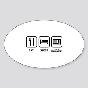 Hack Microwaves Sticker (Oval)
