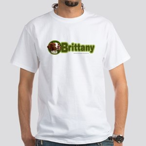 Brittany Breed White T-Shirt