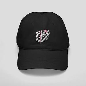 Gymnastics Vault Floor Uneven Black Cap with Patch