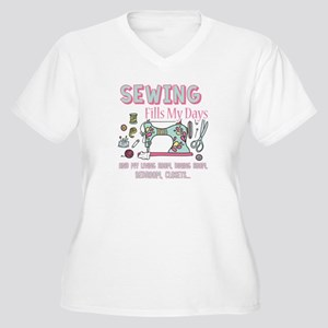 SEWING FILLS MY DAYS Plus Size T-Shirt