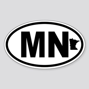 Minnesota Map Oval Sticker