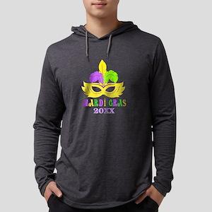 Mardi Gras Year Mens Hooded Shirt