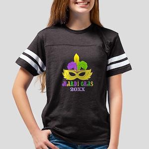 Mardi Gras Year Youth Football Shirt