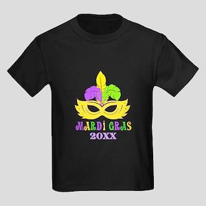 Mardi Gras Year Kids Dark T-Shirt