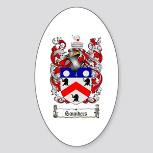 Saunders Coat of Arms Oval Sticker