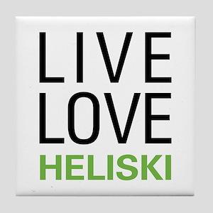 Live Love Heliski Tile Coaster