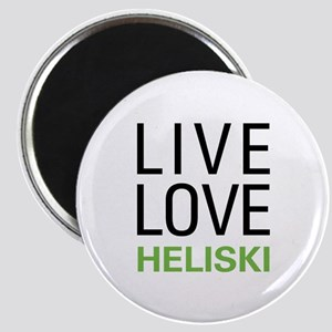 Live Love Heliski Magnet