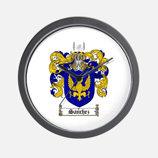 Sanchez Coat of Arms Wall Clock