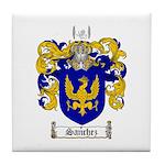 Sanchez Coat of Arms Tile Coaster