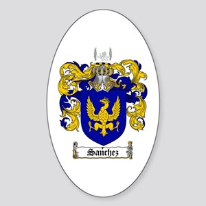 Sanchez Coat of Arms Oval Sticker