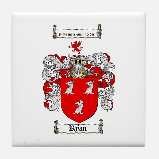 Ryan Coat of Arms Tile Coaster