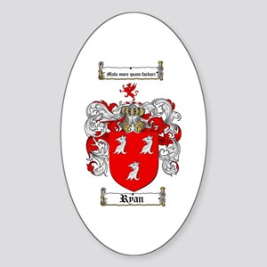 Ryan Coat of Arms Oval Sticker