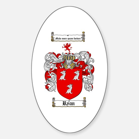 Ryan Coat of Arms Oval Bumper Stickers