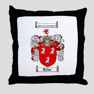 Ryan Coat of Arms Throw Pillow
