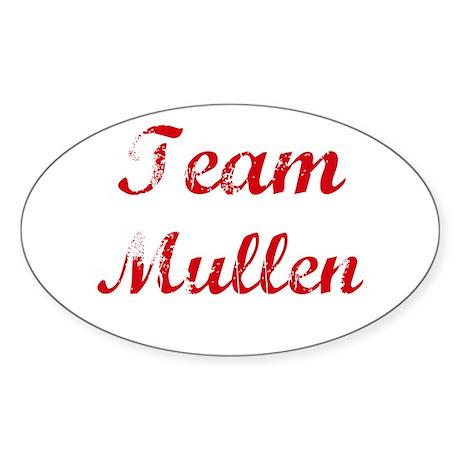 TEAM Mullen REUNION Oval Sticker