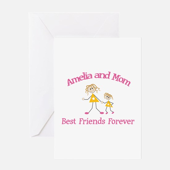Amelia & Mom - Best Friends F Greeting Card