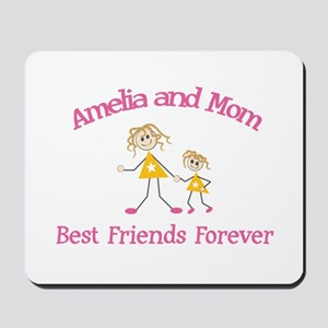 Amelia & Mom - Best Friends F Mousepad