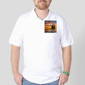Pirate Ship Golf Shirt