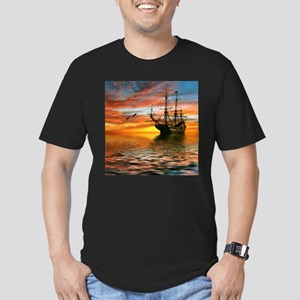 Pirate Ship Men's Fitted T-Shirt (dark)