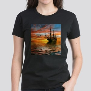 Pirate Ship Women's Dark T-Shirt