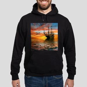 Pirate Ship Hoodie (dark)