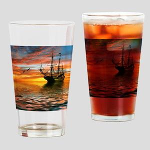 Pirate Ship Drinking Glass