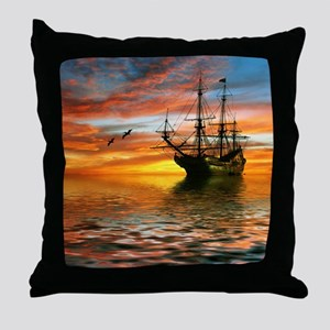 Pirate Ship Throw Pillow