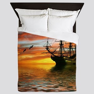 Pirate Ship Queen Duvet