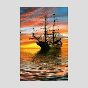 Pirate Ship Mini Poster Print