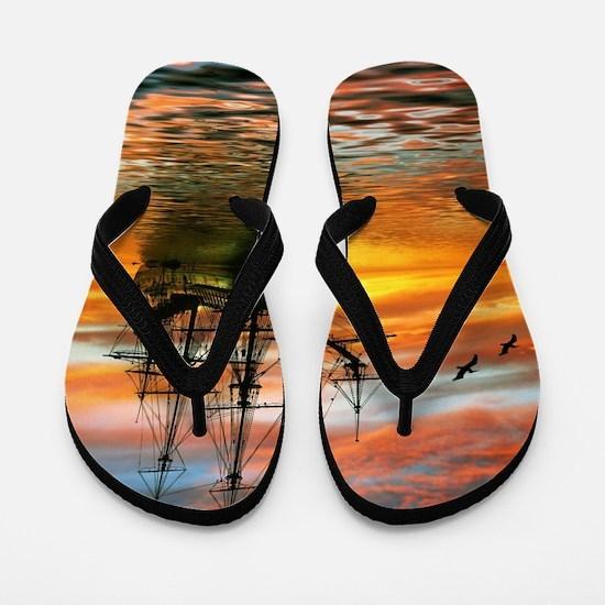 Pirate Ship Flip Flops