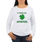 St. Patrick's Day - Blend In Women's Long Sleeve