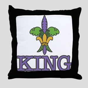 King Mardi Gras Throw Pillow