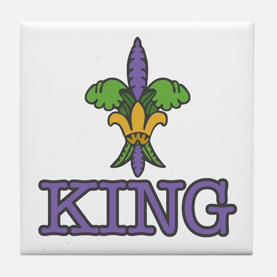 King Mardi Gras Tile Coaster